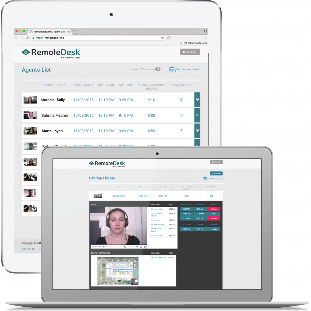 Remotedesk Demo Employee monitoring software