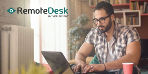 Remotedesk is AI-based remote workforce management solution for work-at-home compliance and security.