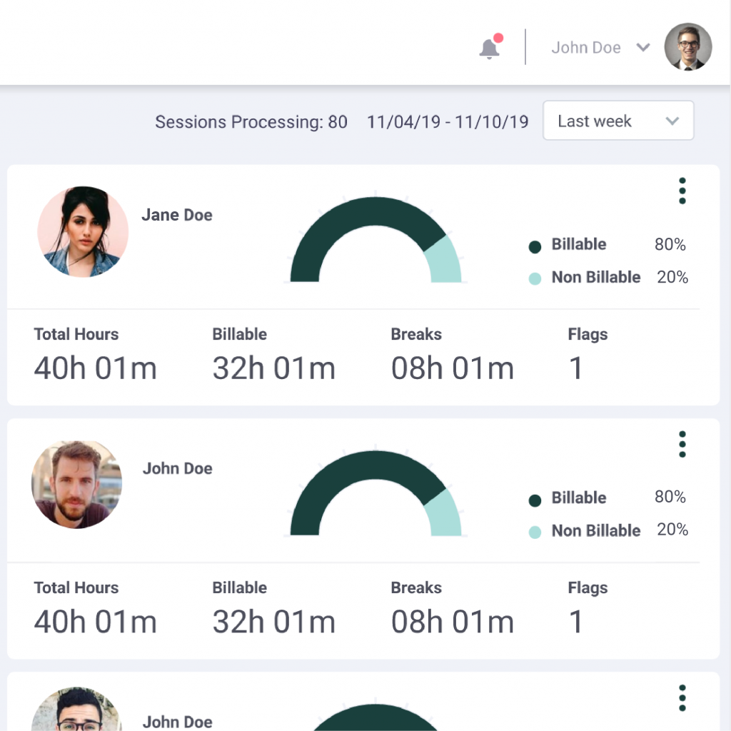 Time tracking with remotedesk